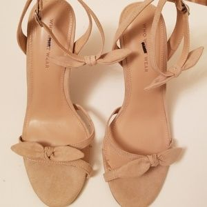 Target brand Who What Wear tan faux suede heel